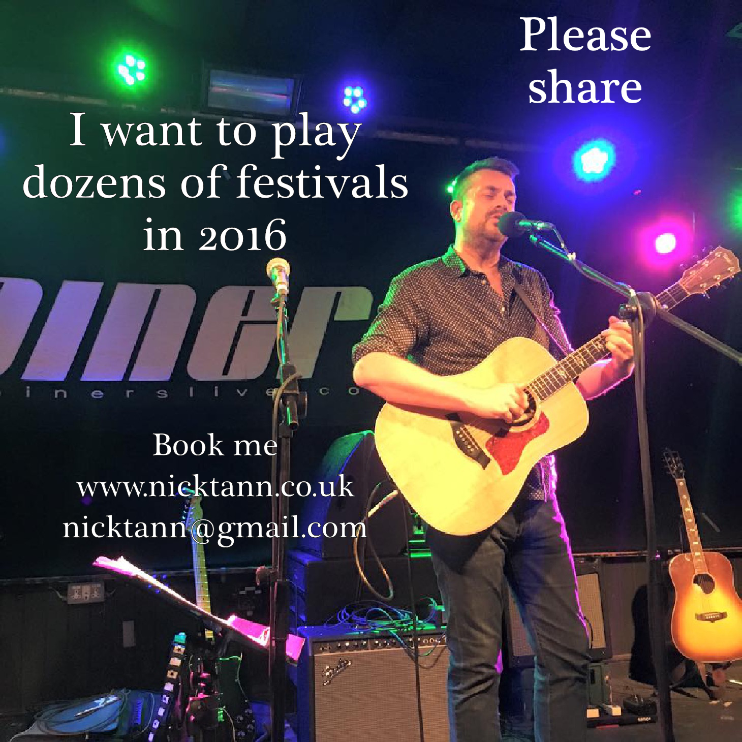Nick Tann at The Joiners FESTIVALS 2016
